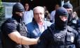 O ex-deputado Eduardo Cunha chega ao IML de Curitiba ao ser preso, em outubro passado