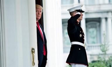 Trump: discurso pró-indústria do carvão nesta semana assustou comunidade internacional Foto: BRENDAN SMIALOWSKI/AFP