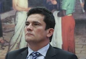 O juiz Sérgio Moro participa em comissão na Câmara dos deputados Foto: Andre Coelho / Agência O Globo
