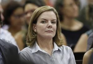 Gleisi Hoffmann pede que Procuradoria da Mulher do Senado investigue Lasier Foto: Edilson Dantas / O Globo