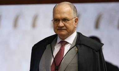 Ministro Edson Fachin, no Plenário do STF Foto: Ailton de Freitas / Agência O Globo