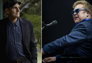 James Taylor e Elton John fazem show no Rio Foto: O Globo