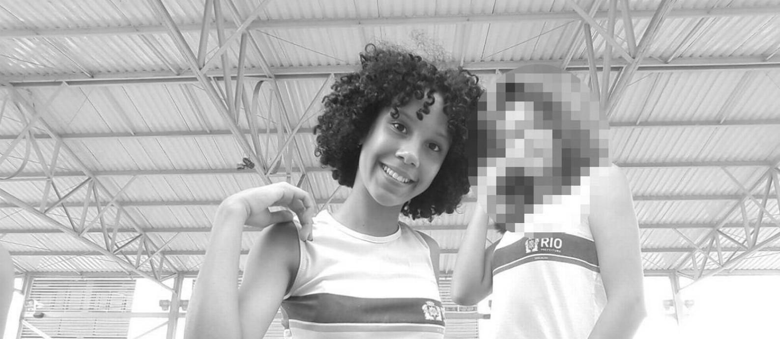 Maria Eduarda, de 13 anos, foi morta após ser baleada dentro de uma escola municipal Foto: Reprodução