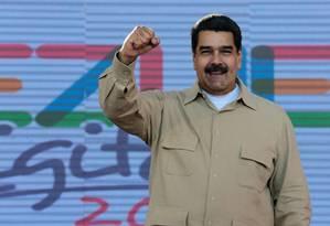Maduro fala durante ato público Foto: @PresidencialVen