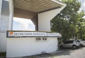 A fachada da Administração Regional do Ingá: local é identificado como antiga Secretaria de Esportes Foto: Analice Paron / Agência O Globo