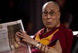 Dalai Lama em Gauhati, na Índia, neste sábado Foto: Anupam Nath / AP