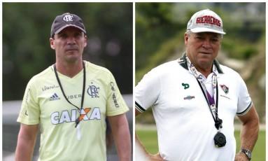 Zé Ricardo e Abel Braga, técnicos de Flamengo e Fluminense, que se enfrentam neste domingo Foto: Divulgação