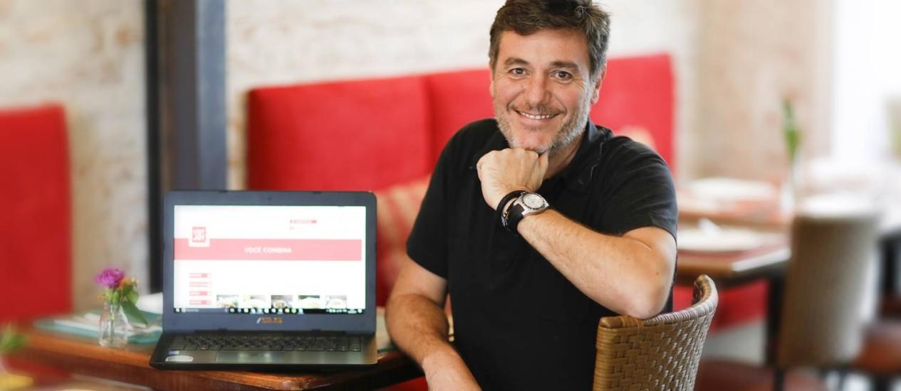 Carlos Rimoldi, sócio da Light and Joy, de alimentos saudáveis, obteve R$ 60 mil de 17 usuários Foto: Edilson Dantas / Agência O Globo