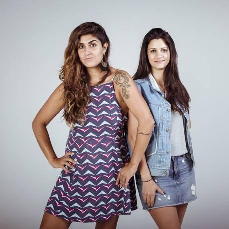 Amnah Asad (à esquerda) e Lara Azevedo, da agência Noix Foto: Agência O Globo / Leo Martins