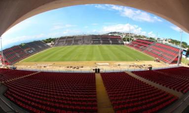 Flamengo divulgou fotos novas da Arena da Ilha Foto: Gilvan de Souza/Divulgação Flamengo