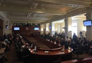 Representantes de países-membros da OEA começam reunião sobre Venezuela Foto: Henrique Gomes Batista
