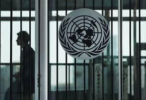 A sede das Nações Unidas, em Nova York Foto: SPENCER PLATT / AFP