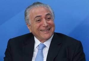 Presidente Michel Temer é citado duas vezes nos inquéritos Foto: André Coelho / O Globo