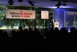 """Debate """"O papel da Mídia Brasileira na era pós-verdade"""". Na imagem, Eugenio Bucci. Foto Marcos Alves / Agencia O Globo"""