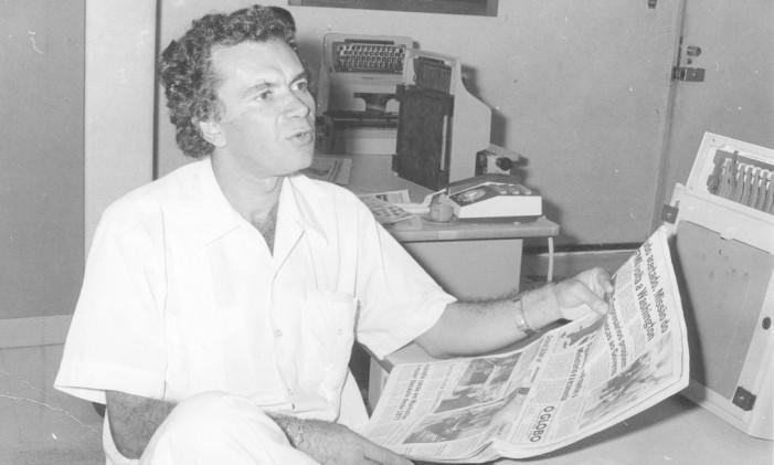 Salvador (BA) - 18/08/1983 - Gramiro de Matos, pseudônimo de Ramiro de Matos (escritor e professor de literatura) - Foto Raimundo Silva / Agência O Globo - Neg: 83-14222 Foto: Arquivo O Globo / Agência O Globo