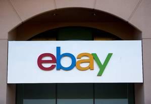 Logo do Ebay no edifício da empresa, em San Jose, na Califórnia. Foto: Josh Edelson/AFP