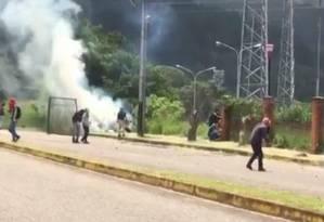 Protesto de universitários deixa estudantes feridos em San Cristóbal Foto: Reprodução