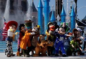 Personagens da Disney participam de apresentação Foto: BENOIT TESSIER / REUTERS