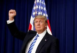 O presidente americano, Donald Trump, trata a influência humana nas mudanças climáticas como uma