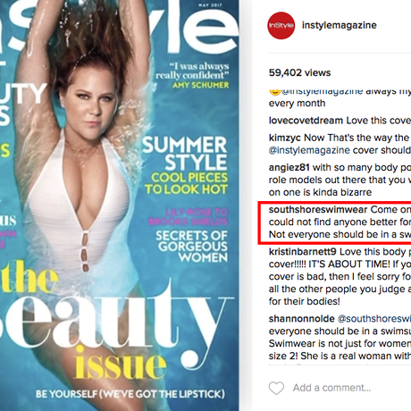 O post com o comentário preconceituoso Foto: Reprodução Instagram