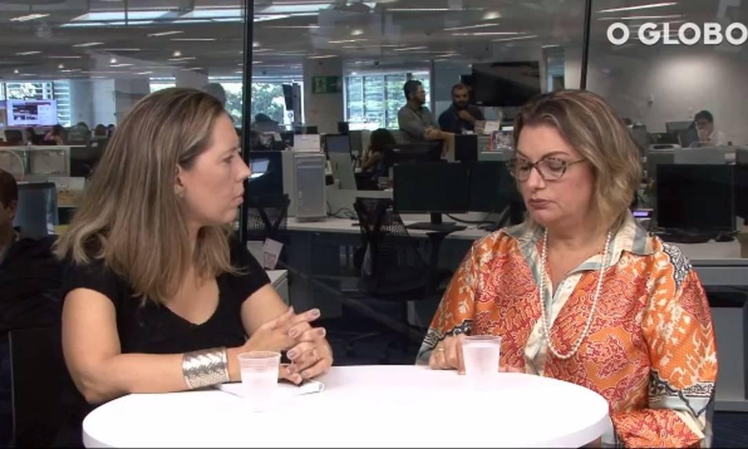 Luciana Casemiro, editora de Defesa do Consumidor, e a coordeandora do Núcleo de Defesa do Consumidor da Defensoria Pública do Rio, Patrícia Cardoso Foto: Reprodução