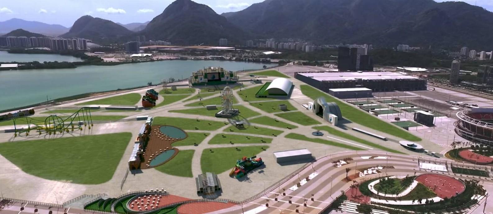 A cidade do Rock agora fica no Parque Olímpico, na Barra da Tijuca Foto: Reprodução