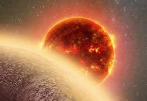 Ilustração do planeta GJ 1132b: temperatura da superfície pode chegar a 270 graus Celsius Foto: Ilustração/Dana Berry