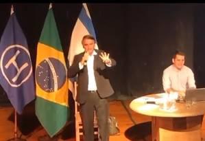 Bolsonario participou de evento na Hebraica do Rio Foto: Reprodução internet
