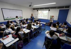 RI Rio de janeiro (RJ) 06/04/2016 Nova Grade curricular do ensino médio . Colégio Colpegio Mope Tijuca Foto Domingos / Agência o Globo Foto: Agência O Globo