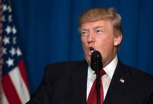 Trump explica ataque ao regime sírio Foto: JIM WATSON / AFP
