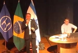 O deputado Jair Bolsonaro discursou no clube Hebraica Rio 07/04/2017 Foto: Reprodução