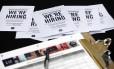 Formulários para disputas de vagas nos EUA. Crédito: Wilfredo Lee/AP