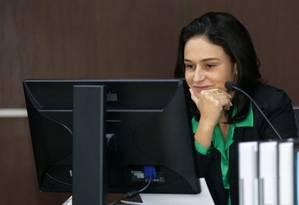Marianna Willeman foi alçada subitamente à condição de presidente interina do TCE-RJ após a prisão de todos os demais conselheiros Foto: Márcio Alves / Agência O Globo