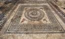 Um dos mosaicos descobertos da antiga cidade romana de Ucetia, no Sul da França Foto: Denis Gliksman, Inrap