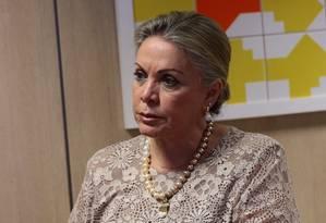 Maria Inês Fini, presidente do Inep, durante coletiva de imprensa nesta segunda Foto: Givaldo Barbosa / Agência O Globo