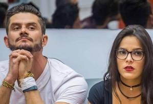 Marcos agrediu a namorada, Emily Foto: Reprodução/TV Globo
