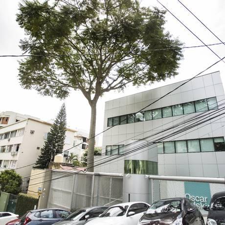 A empresa Oscar Iskin, na Rua Macedo Sobrinho, foi citada como endereço de recolhimento e entrega de propina Foto: Ana Branco / O Globo