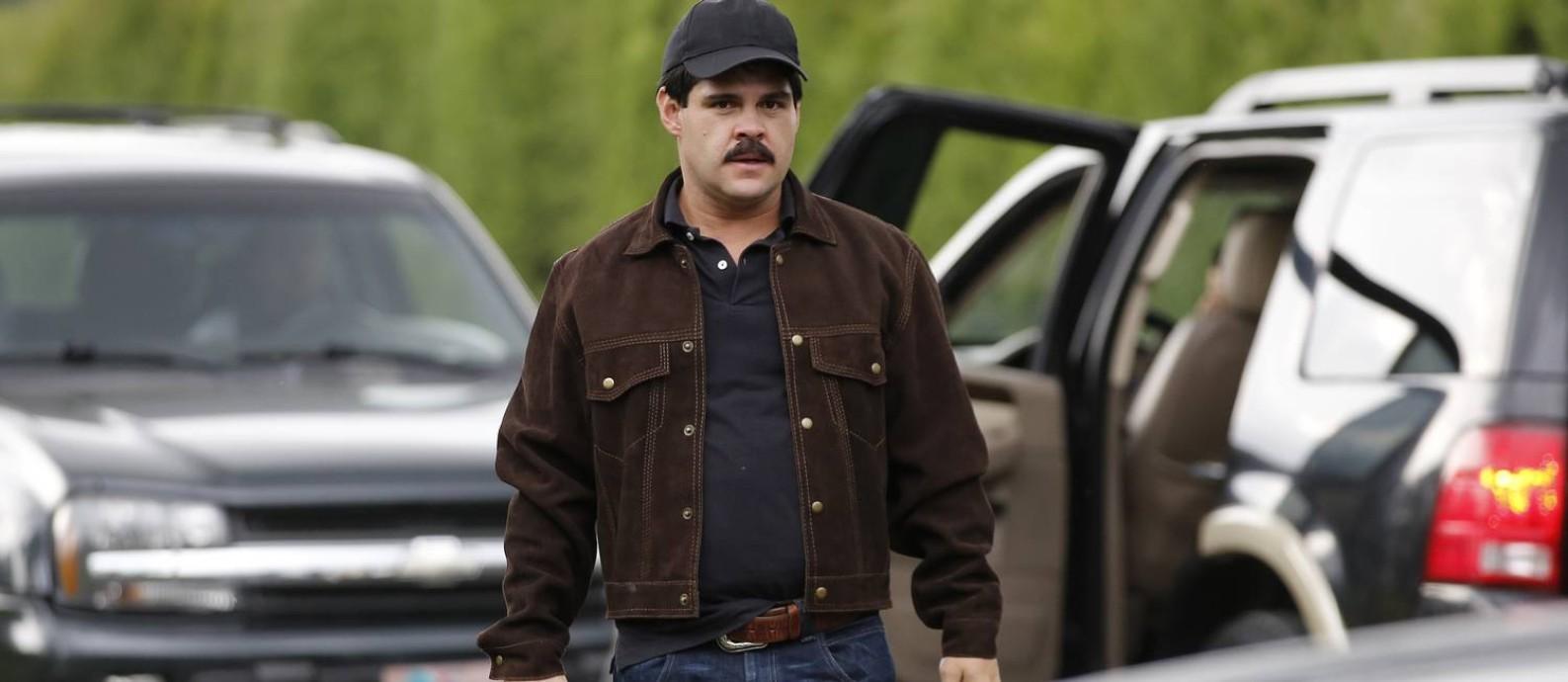 O ator mexicano Marco de la O interpreta El Chapo na série sobre o traficante Foto: Fernando Vergara / AP