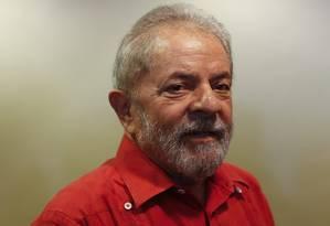 Na foto, o ex-presidente Lula, em debate realizado pelo PT sobre a Lava-Jato, no mês passado. 24/3/2017 Foto: Edilson Dantas / Agência O Globo