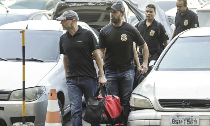 O ex-secretário de Saúde do Rio Sérgio Côrtes foi preso na manhã desta terça-feira, na Operação Fatura Exposta Foto: Gabriel de Paiva / O Globo