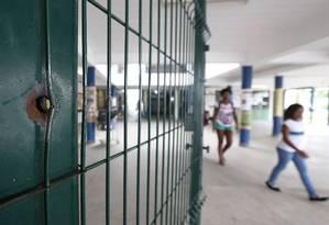 Morte da estudante Maria Eduarda dentro da Escola Municipal Daniel Piza Foto: Paulo Jacob / Agência O Globo