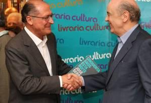 O governador de São Paulo Geraldo Alckmin e o senador José de Serra Foto: Michel Filho / Arquivo O GLOBO