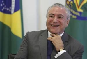 'Vou deixar Judiciário agir', diz Temer sobre lista de Fachin Foto: Eraldo Peres / AP
