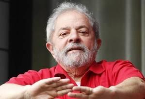 Ex-presidente Luiz Inácio Lula da Silva, citado na delação de executivos da Odebrecht no processo da Lava-Jato Foto: Edilson Dantas / Ag O Globo