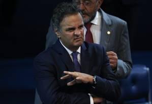 O senador Aécio Neves (PSDB) é alvo do maior número de inquéritos Foto: ANDRE COELHO / Agência O Globo