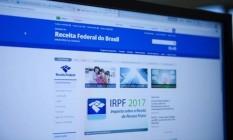 Site da Receita Federal Foto: Michel Filho / Agência O Globo