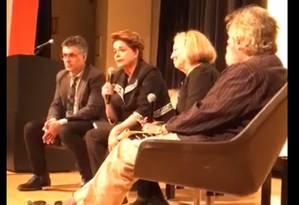 Dilma Rousseff participa de debate em Nova York Foto: Reprodução/Facebook