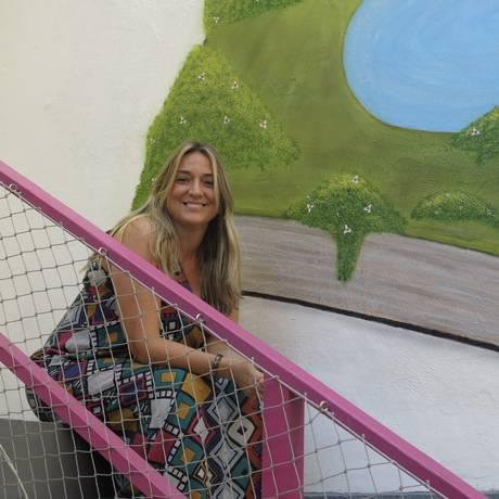 Lago de Histórias. Em espaço na Urca, Helena criou oficinas de literatura para crianças, jovens e adultos Foto: Árion Lucas / Agência O Globo