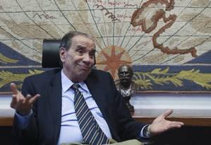 O chanceler Aloysio Nunes é suspeito de receber, por caixa 2, R$ 500 mil para campanha Foto: Ailton de Freitas / Agência O Globo