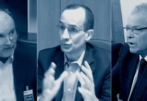 Benedicto Júnior, Marcelo Odebrecht, Emilio Odebrecht relatam esquema de corrupção envolvendo classe política Foto: Arte O Globo